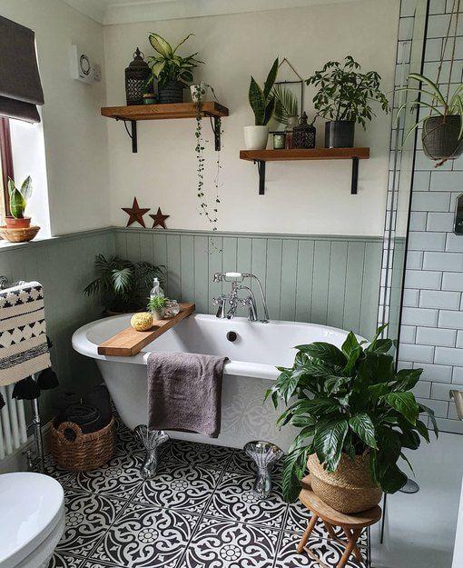 Kamar mandi dengan konsep tumbuhan