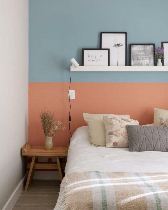 kombinasi Warna cat kamar tidur romantis 3 warna