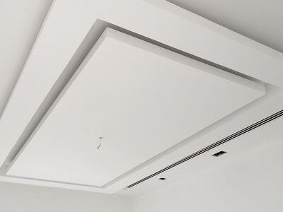 Plafon Gypsum Ruang Tamu