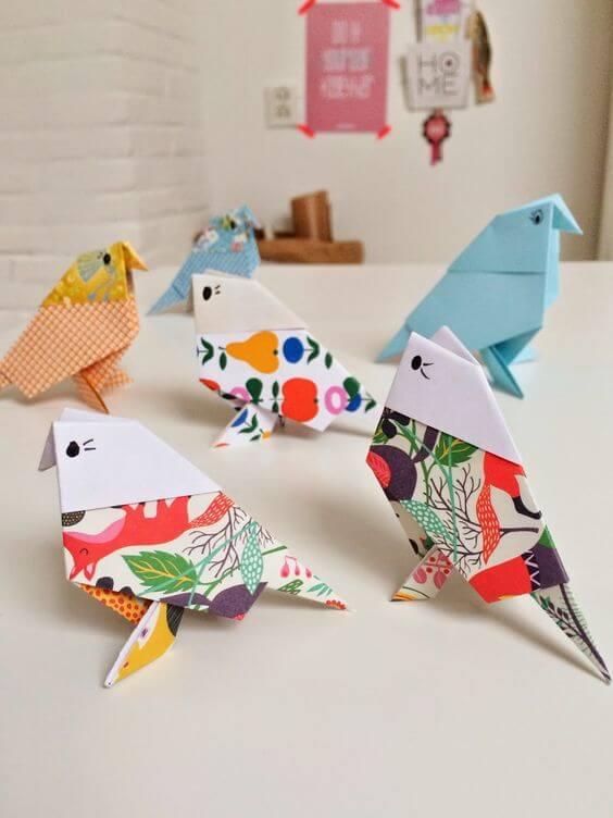Cara menghias kamar tidur sempit- origami burung