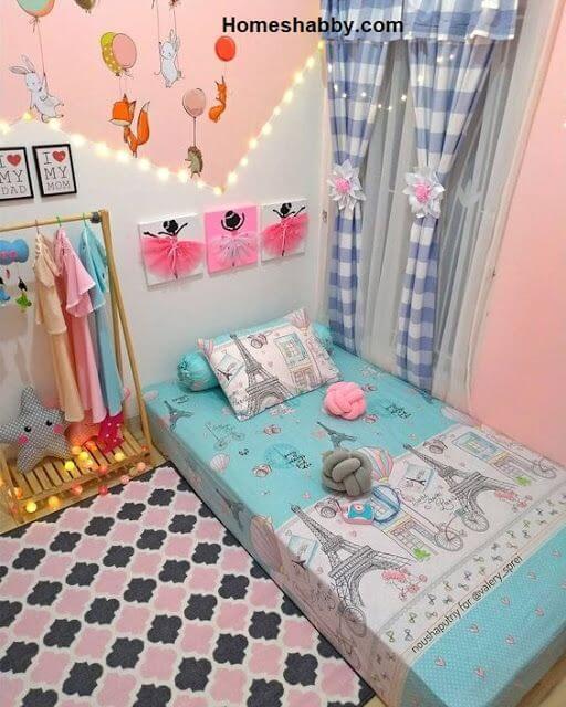 Dekorasi Kamar Tidur Anak Perempuan Minimalis Cantik