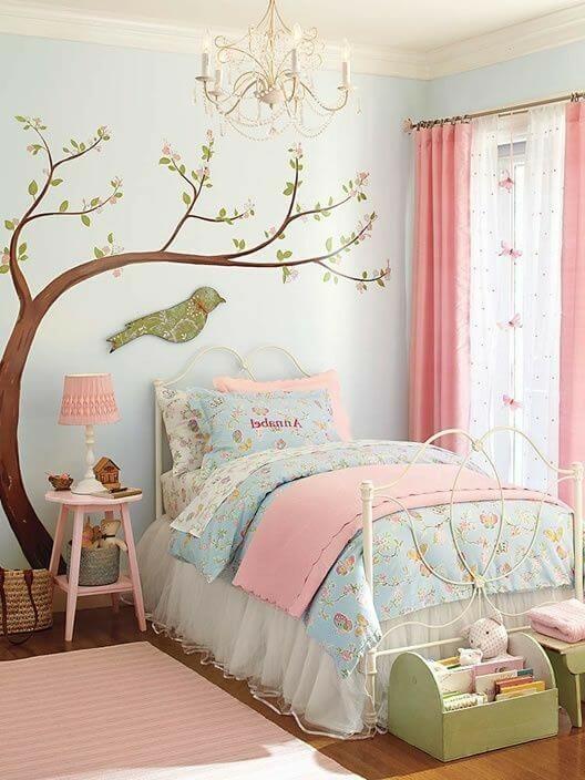 Dekorasi Kamar Tidur Anak Perempuan Mural