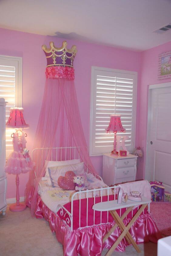 Dekorasi Kamar Tidur Anak Perempuan Pink