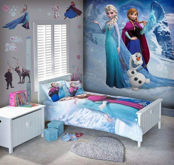 Dekorasi Kamar Tidur Anak Perempuan frozen