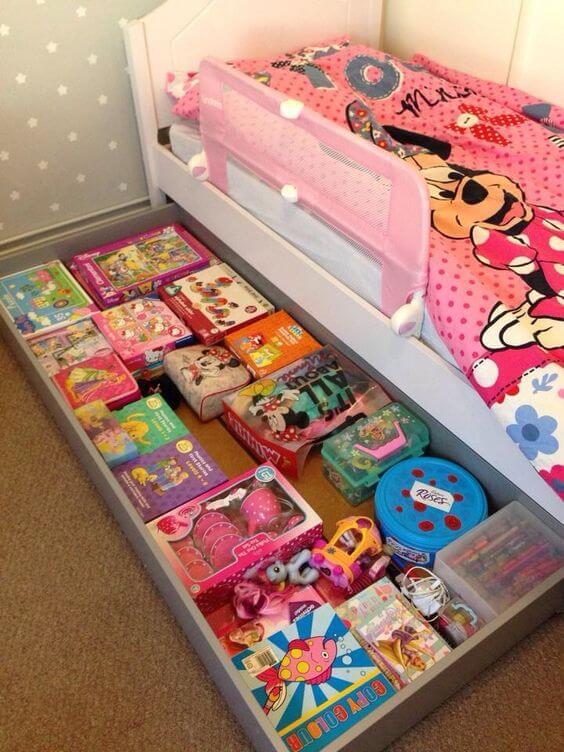 Dekorasi Kamar Tidur Anak Perempuan kotak harta karun