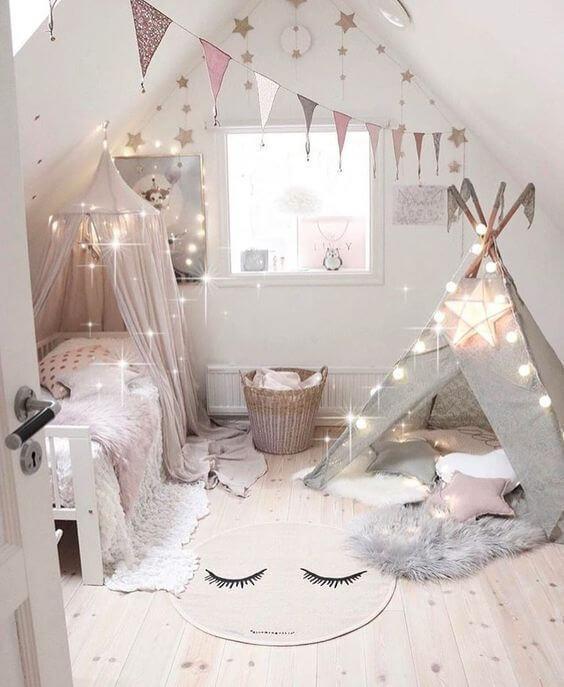 Dekorasi Kamar Tidur Anak Perempuan tenda