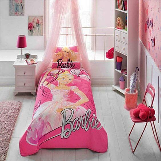 Desain Kamar Anak Perempuan Barbie