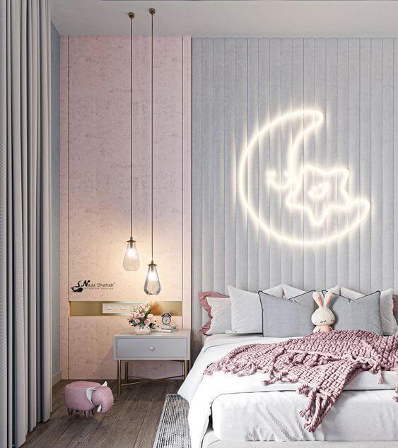 Desain Kamar Anak Perempuan Kekinian Lampu Dinding