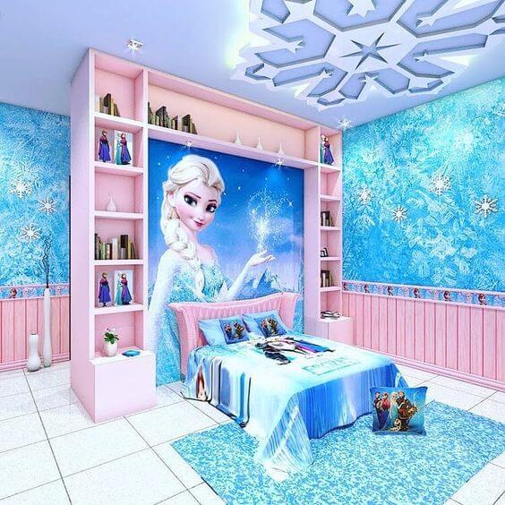 Desain Kamar Anak Perempuan Mewah Frozen