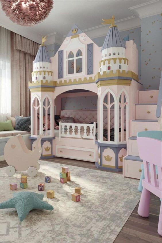Desain Kamar Anak Perempuan Mewah Istana