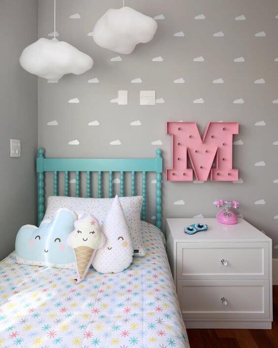 Desain Kamar Anak Perempuan Minimalis Awan