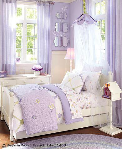 Desain Kamar Anak Perempuan Sederhana Violet