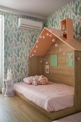 Desain Kamar Anak Perempuan Sederhana Wallpaper dinding