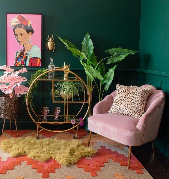 cat ruang tamu warna hijau