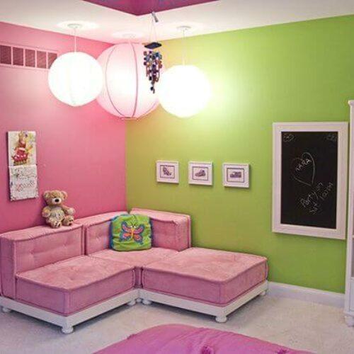 Variasi Warna Cat Ruang Tamu 2 Warna yang Unik Cantik Elegan