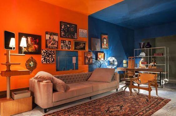 Variasi warna ruang tamu 2 warna
