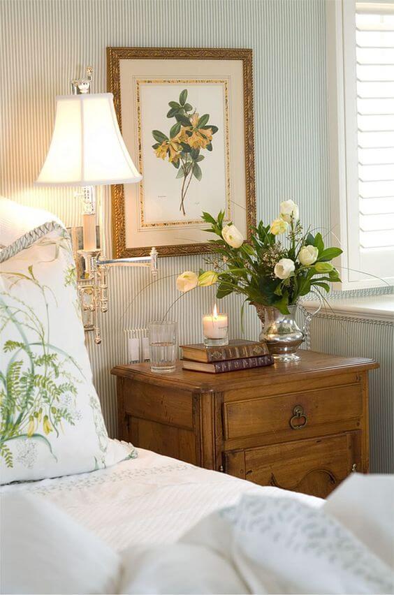 Cara menghias kamar tidur bunga - lukisan