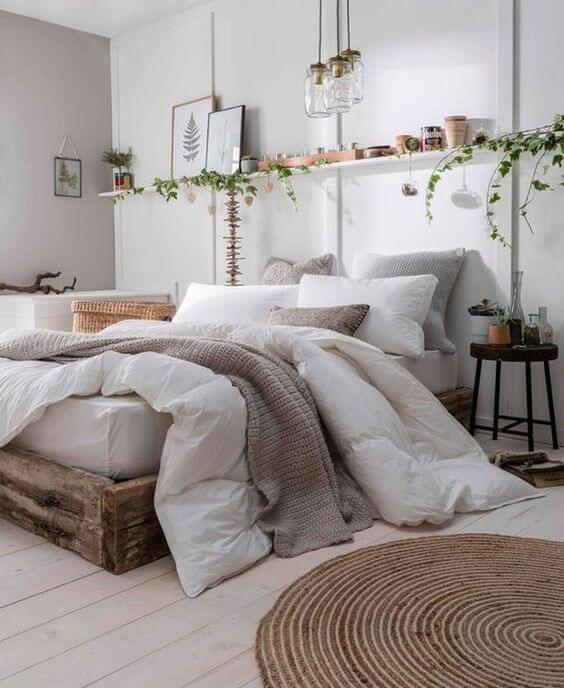 Cara menghias kamar tidur sempit-rak memanjang
