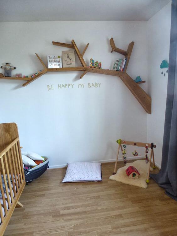 Cara menghias kamar tidur sempit-rak pohon